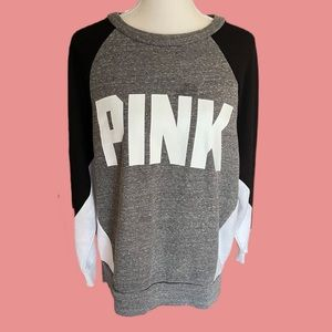 Victoria' Secret Pink Colorblock Sweatshirt Size S